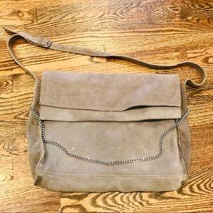 Zara Grey suede slouchy split purse